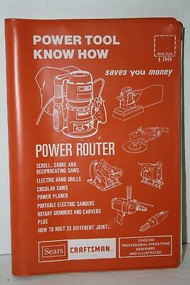 1983 Sears Craftsman Power Router Power Tool Know How Manual 9-2949
