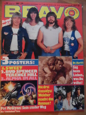 BRAVO 44 - 1977 Sweet Bay City Rollers Stranglers John Paul Young Cassidy HEART