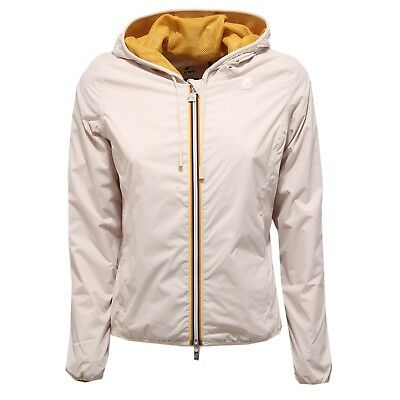 1a0c3fd979 8893V GIUBBOTTO DONNA K-WAY LILY MESH beige windproof jacket woman