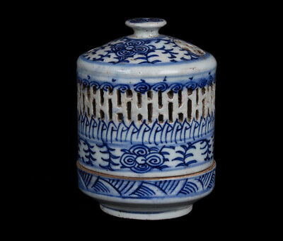China 19. Jh. Qing Nachtlicht - A Chinese Blue & White Night Light - Chinoise