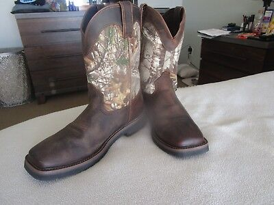 fc93d2ddffd BRAND NEW JUSTIN Mens Western Work Boots Size 10 1/2