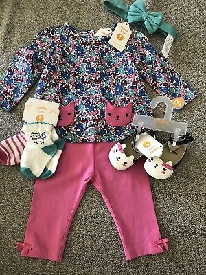 NWT Gymboree baby girl WINTER 6-piece pink floral kitty cat bow shoes SET 0 3