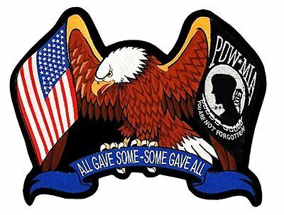 91959ca6c59c Eagle American Flag USA Flag POW MIA Some Gave All Patch 3x4 FAST USA  SHIPPING