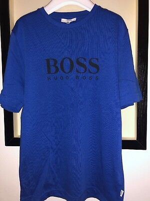 🎁New Boys Blue Hugo Boss T-Shirts Size 8 Years