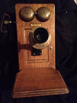 Western Electric Vintage late 1800's Phone No Works Antique Great 4 Man Cave