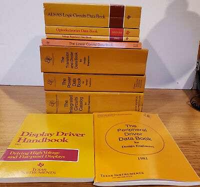 Texas Instrument Data Books Set of 9 - Transistors to Integrated Circuits