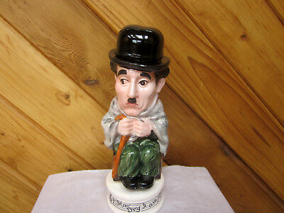 Charlie Chaplin Musical Liquor Decanter  Plays How Dry I Am Made In Japan