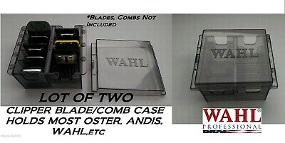 SET of 2 Clipper BLADE&ATTACHMENT/Guide COMB STORAGE CASES*For Oster,Wahl,Andis