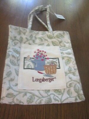 New With Tags Longaberger Homestead Garden Tote Bag