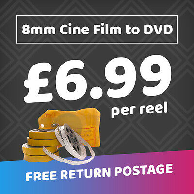 Transfer 8mm & Super 8 Cine Film to DVD **( ONLY £6.99 per reel any size)***