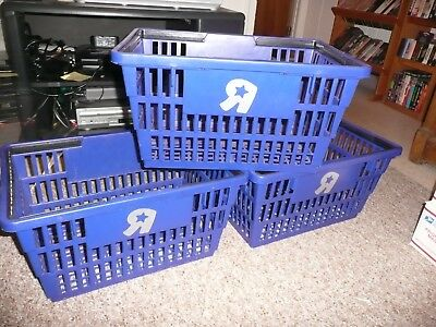 1 Vintage Toys R Us PLASTIC SHOPPING BASKET sign Geoffrey Toy Store RARE .