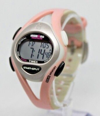 TIMEX WOMEN'S T5D601 Ironman Sleek 50 Lap Pink Resin Strap