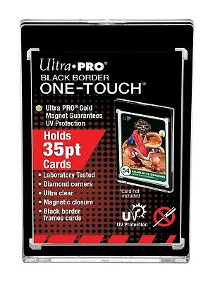10-Pack Ultra Pro BLACK BORDER One Touch Magnetic Trading Card Holder 35pt Size