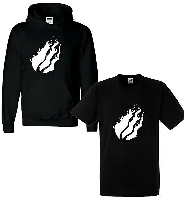 Boys Girls Kids T Shirt Hoody YouTube Youtuber PrestonFlame Gaming Top Fire Whit