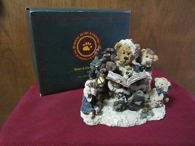 """Boyds Bearstone """"Grenville the Storyteller""""   Style 2265  NEW IN BOX - FREE SHIP"""