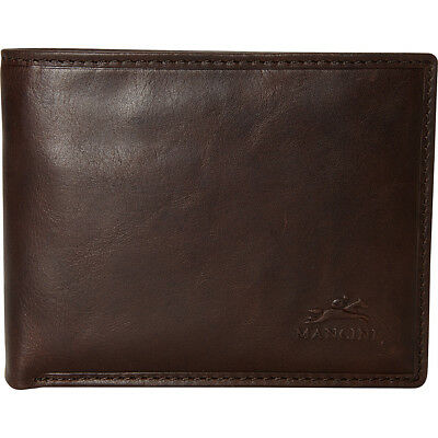 Mancini Leather Goods Men's RFID Secure Wallet with Men's Wallet NEW