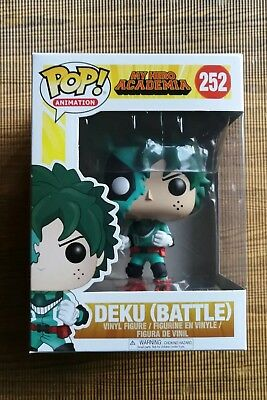 Funko Pop Deku Battle 252 My Hero Academia Figure FREE pop protector Anime Rare