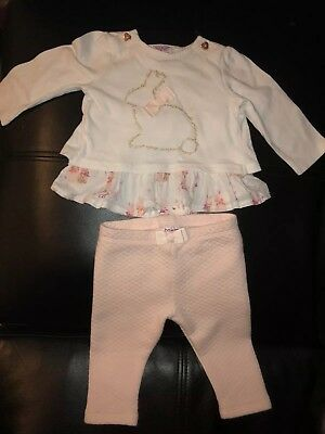 a8920e43ca5985 🌸 TED BAKER Baby Girls Two Piece Bunny Top And Leggings Set 3-6 ...