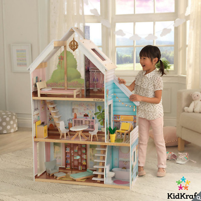 KidKraft Zoey Wooden Dollhouse + 17 Pieces of Furniture *Fits Barbie Dolls*