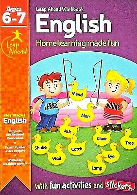 English, Age 6-7 Children's Workbook, Activities, Stickers, Fun Learning, New