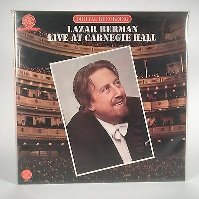 *SEALED* LAZAR BERMAN Live At Carnegie Hall CBS MW 2M35903 PROMO Audiophile
