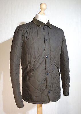 Barbour Quilted Olive Green Jacket Mens Size S RRP £125 Chelsea Sports Quilt