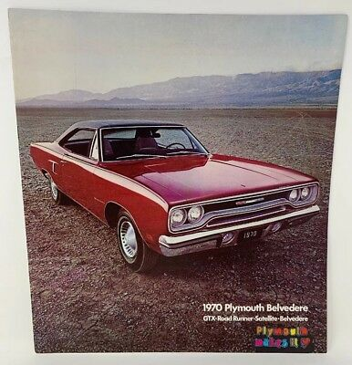 Plymouth 1970 GTX Road Runner Satellite Belvedere Sales Brochure Vintage 18-1254