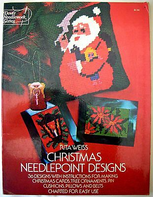 Dover Needlework Series - CHRISTMAS NEEDLEPOINT DESIGNS - Rita Weiss - Free Post