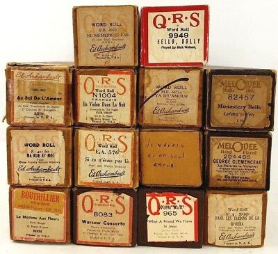 Lot 14 QRS Word Roll Melodee Bothillier Piano Rolls Ed Archambault Hello Dolly