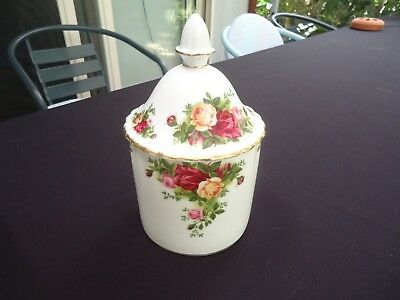 royal albert old country roses canister vanity container