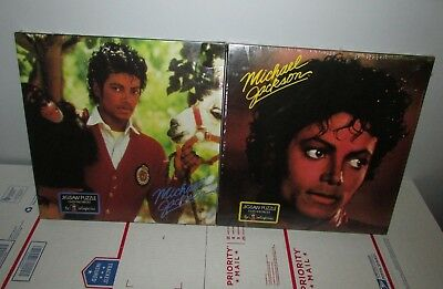 "Lot of 2 Vintage Colorforms Michael Jackson Jigsaw Puzzles 18x24"" Sealed"