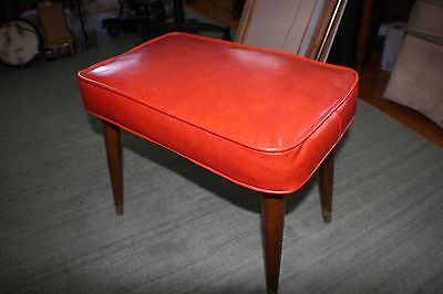 Vintage Babcock Phillips Mid Century Foot Stool Deep Navel Color - Nice Piece!