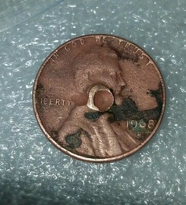 1968 D Penny EXTREME ERRORS 2.95 Grams. RARE ONE OF A KIND. Lincoln wheat Cent