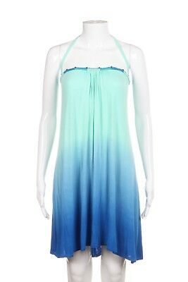 776c842a281eb DOTTI Cover-Up Dress Large Green Blue Ombre Strapless Tube Top Swimwear  Beach