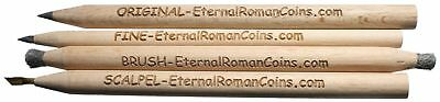 Set of 4 Magic Cleaning Pencils Cleaning Uncleaned Ancient Roman & Greek Coins