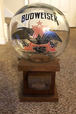 Vintage 1970s Budweiser Beer Glass Globe Peanut,Gum ball, Dog Treat Dispenser