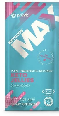 Pruvit Keto Max OS JELLIES ketone Packet CHARGED (Caffeine)