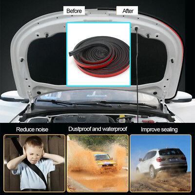 16M Car Door Seal Strips Glue Stickers Soundproof Sloping D Shaped Rubber Edge