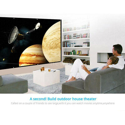 Portable 120 Inch Front Rear Projector Screen Foldable for Home Theater Outdoor