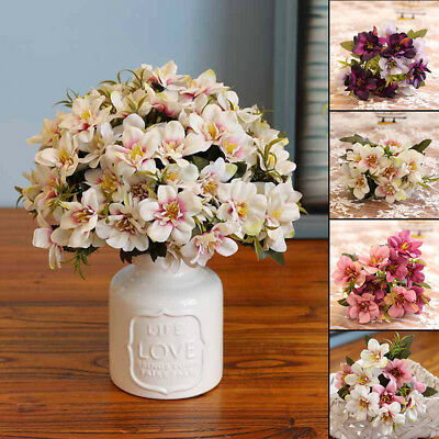 Violet Artificial Silk Hyacinth Flowers Bouquet Fake Wedding Party Home