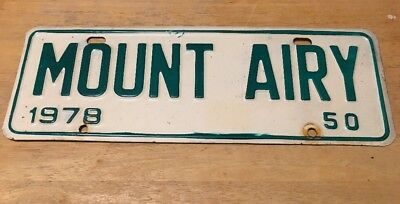 1978 Mount Airy North Carolina City License Plate Topper Issue #50, NC