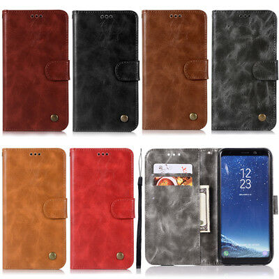 Flip Retro Wallet Leather Stand Case Cover For Samsung Galaxy J6 J4 A6 A9 2018