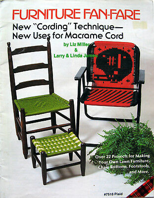 Macrame Patterns Woven Chairs Lawn Patio Football Cording Weaving Furniture 7516
