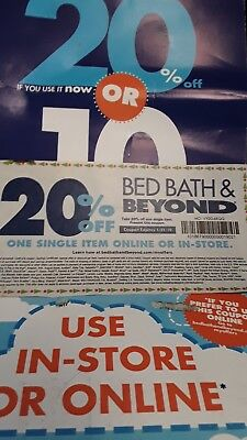 2- Bed Bath Beyond  20 % off 1 Item  *ONLINE /in store Coupon*       Exp 2/4/19