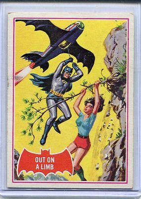 1966 Topps Batman Out On A Limb Red Shield Card # 13a EX Excellent