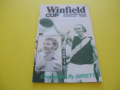 Kevin Bartlett Tom Hafey Winfield Cup October 1974 Champions of Australia Series
