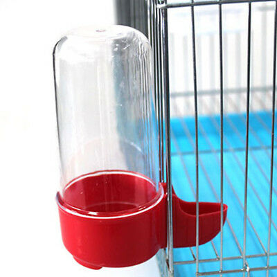 Water Dispenser Cage Bird Parrot Canary Plastic Drink Bottle Feeder Pet Food