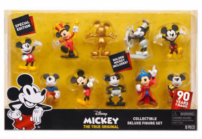 Disney Mickey Mouse Steamboat Willie Figure Set of 10 90th Birthday Anniversary