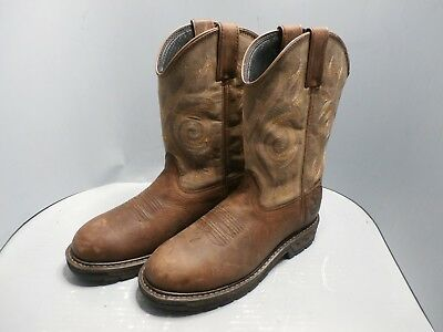 134fbe672b3 GEORGIA BOOT CARBO-TEC Lt Pull-On Work Boot Brown Size 9W Wide Model ...