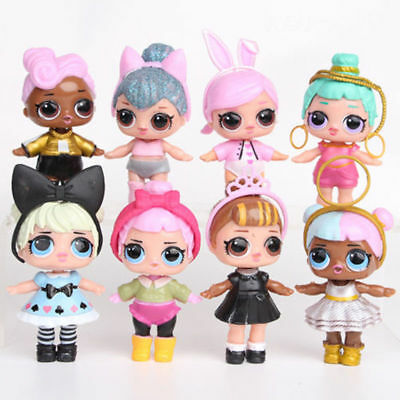 8pcs LOL SURPRISE DOLL Blind Mystery Toy PVC Figure Cake Topper Gift Kid Toy d